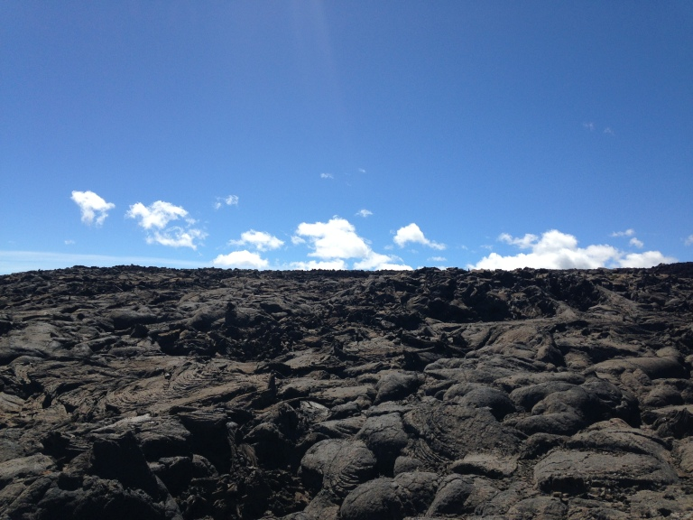 This is where we decided to head off into the wild unknown. There's good lava and bad lava out there, general rule is unless it looks like a pillow, just don't touch!