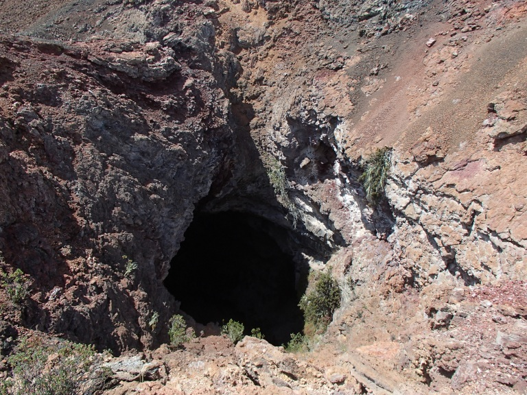 This is the same giant hole from my first EVA post. It is still immeasurably deep, don't go in!